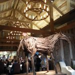 Dining room and wooden horse