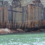 Awesome color streaks in the Pictured Rocks