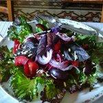 Le meravigliose insalate con basilico rosso