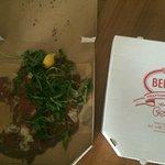 Carpaccio in pizza box
