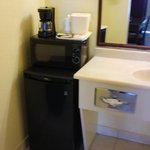 Mini Fridge, Microwave & Coffee Maker