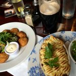 Irish cottage pie and Golden mushrooms