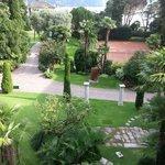 Blick in Garten aus Zimmer 42