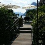 Schöne Terrasse für Kaffee und Kuchen
