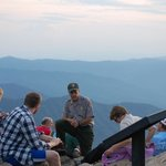 Great Smoky Mountain National Park history lesson, view from Cliff Tops in the background