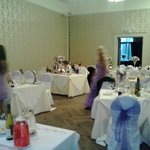 Main dining hall during the wedding