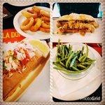 King Lobster con onion rings & Mr. Jack sandwich con fagiolini