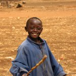 On the way to the village this boy greeted us