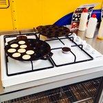 Making Dutch pancakes for breaky