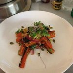 Yum, yum -- burnt carrot salad!
