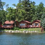 Another series of lakeside cabins