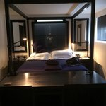 Stylish room and comfy bed - hidden tv that rises from the foot of the bed is a novel idea also.