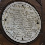 Cafe Procope sign