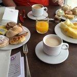 Le petit déjeuner continental