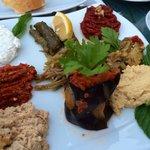 Meze platter for appetiser