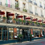 Beautiful Outdoor terrace of the Procope ~ Paris May 2014