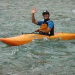 Hydrospeed: my great instructor Peter, along the Isonzo (Soča) River *****