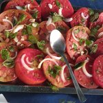 delicious tomatoes from Alessandra's garden