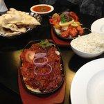 Nepales Chilli Chicken and Ashkari Tandoori Vegetables