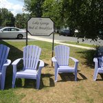 The lawn chairs (view of parking lot in the background)
