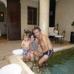 Relajante piscina de agua fresca
