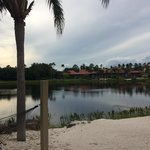 Walking around the lake in the cabanas area