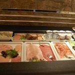 Breakfast buffet - meats & cheeses