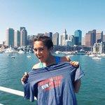 Post-run and enjoying the Boston Harbor