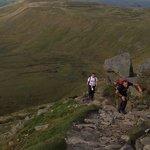 The last climb up Ingleborogubh