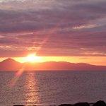 sun setting over port ban