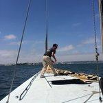 Bringing down sail