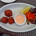 Conch fritters, minus 1 already eaten.