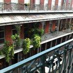 Balcony outside door of 318