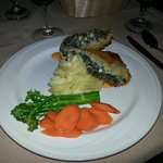 Spinach & goat cheese struedel
