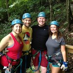 Before the final zip line. Great time!