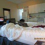 Quarto integrado: cama-cozinha