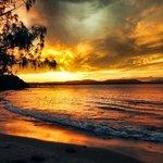 Wategos beach sunset!
