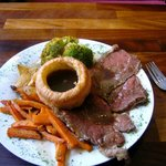 Lovely Sunday roast beef lunch
