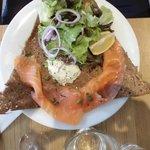 Galette salmone