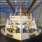 Steam Ship Display model