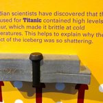 Recent discovery about the Titanic