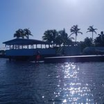 a look back at the resort as we head out on the paddle boards
