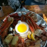 Seafood broil for two...