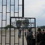 Walking through the gates at Sachsenhausen