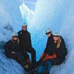 sitting outside a crevasse