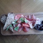 Cured meats beautifully presented.