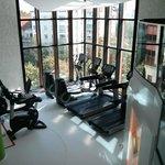Teil des Fitnessbereichs