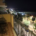 View of the lungomare at night
