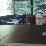 Hot tub, deck view