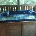 lower deck hot tub
